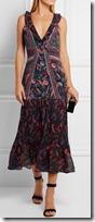 Saloni printed silk chiffon midi dress
