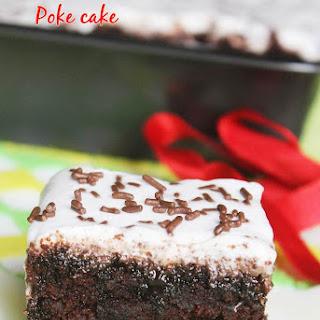 Chocolate Poke Cake with Coconut Cream