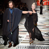 OIC - ENTSIMAGES.COM - Andreas Kronthaler and Dame Vivienne Westwood at the Fashion For Relief - catwalk show & fundraiser at Somerset House in London 19th February 2015  Photo Mobis Photos/OIC 0203 174 1069