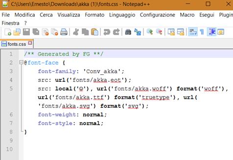 codice-font-implementare