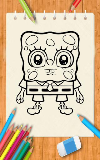 Draw cartoon Spongebob for PC