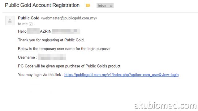 email pengesahan temporary akaun emas gap