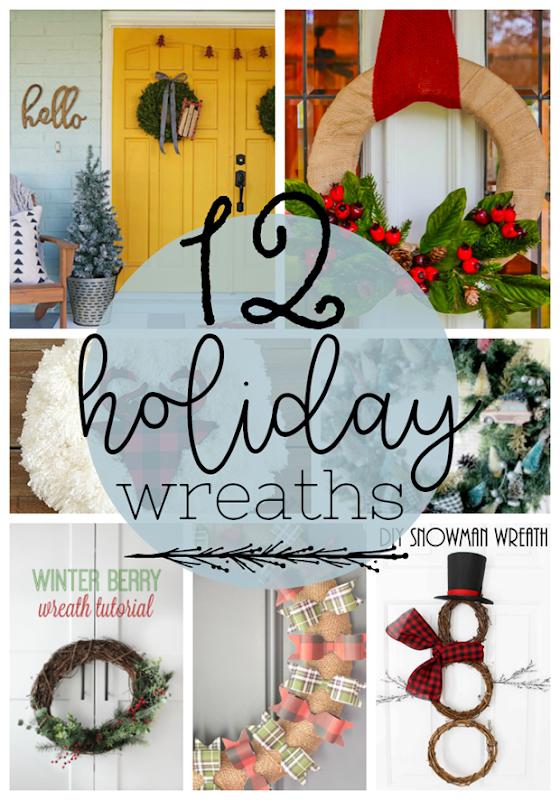 12 Holiday Wreaths at GingerSnapCrafts.com #wreaths #holiday #DIY