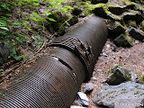 The first section of penstock we come across.
