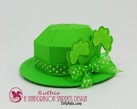 Leprechaun mini bowler hat box, SnapDragon Snippets, Ruthie Lopez. 2