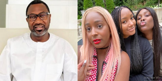 Massive Reactions As This Lovely Photo Of Femi Otedola's Daughters Hit The Internet [Photos]