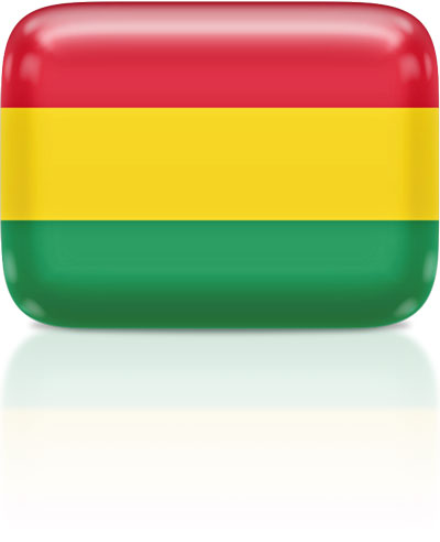 Bolivian flag clipart rectangular