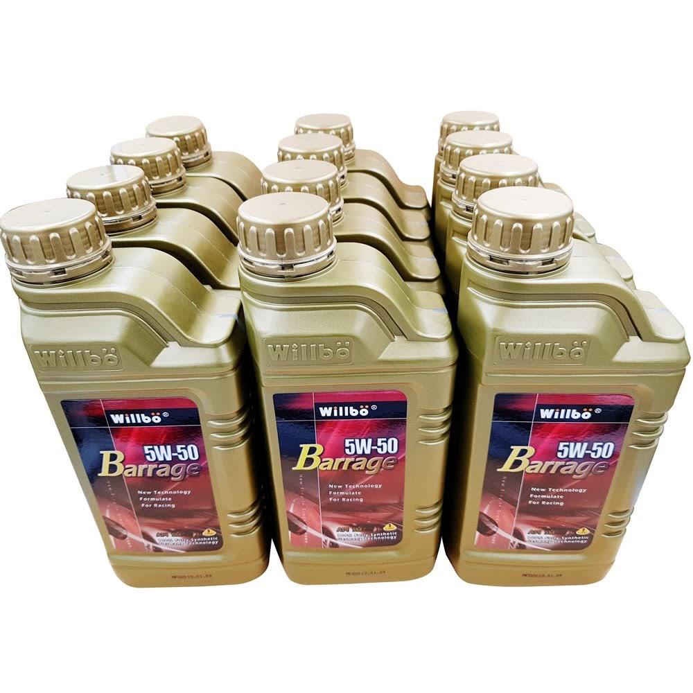 WILLBO BARRAGE 5W50 SM<br/>多元醇酯全合成機油5箱(批發價)