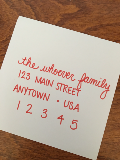 Addressed Christmas Cards.Ferg Family Adventures Our Christmas Card