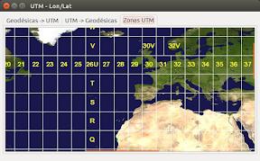 Convertir de coordenadas geográficas a utm - zonas
