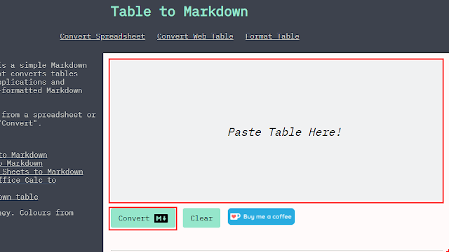 Paste Table Here!