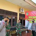 Kehadiran dan Donasi Dandim 1407 Bone ke Dapur Lapangan TNI POLRI Jadi Pemicu Semangat