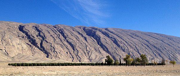 Felsformation an der Ghir-Firuzabad-Road, Iran