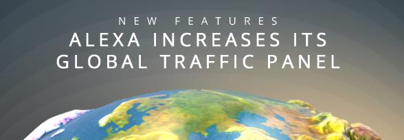 Alexa Rank Drops due to Increase in Global Traffic Panel