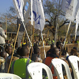 Men who have been initiated supporting the Bojale