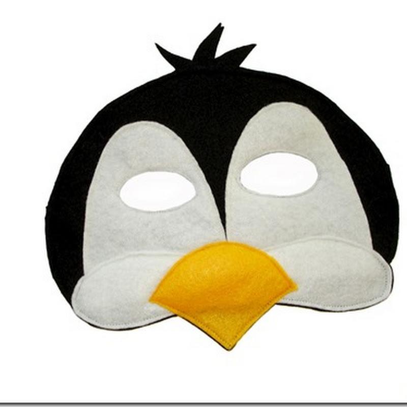 Careta de pinguino gratis para imprimir