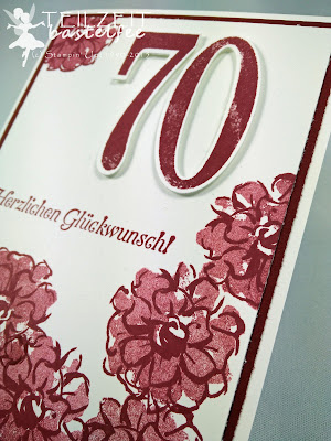 Stampin' Up! SAB Was ich mag, SAB What I love, So viele Jahre, Number of Years, Flowers, birthday, 70 Geburtstag, Explosion Box, gift cards, Envelope Punch Board, Framelits Large Numbers