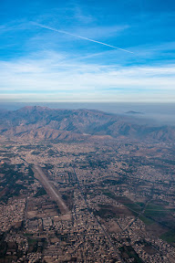 Arial view of Kohat city.