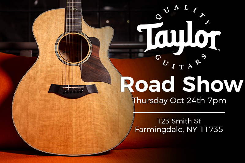 Taylor Guitars Road Show on Thursday, October 24th!