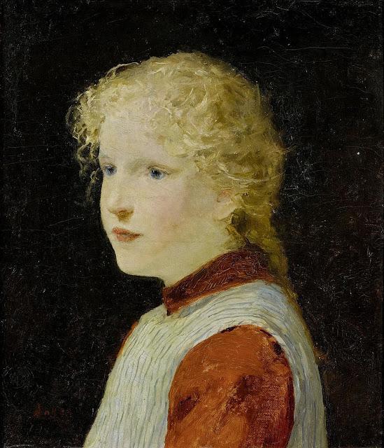 Albert Anker - Bildnis eines blonden Mädchens c1901
