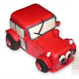 21. kép: Formatorták (fiúknak) - Piros autó torta