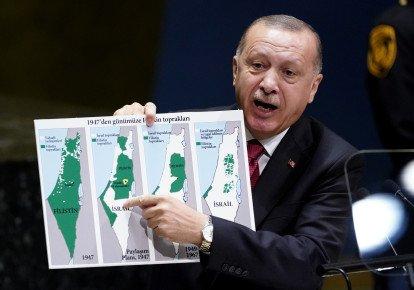 """Israel Was Originally Palestinian"" - Turkey President, Erdogan"