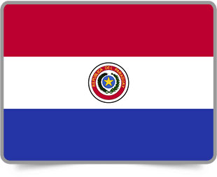 Paraguayan framed flag icons with box shadow