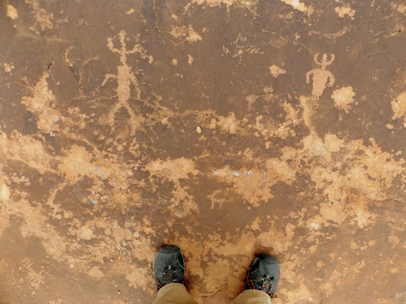 Ground-level petroglyphs