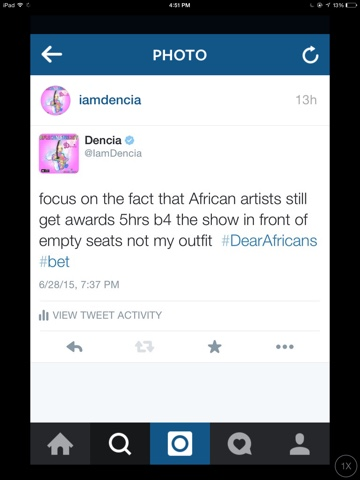 Dencia Calls Out BET, Check-out Her Outfit To BET Awards 5