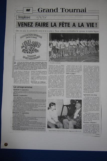Coupure de presse de la Fête à la Vie 1994