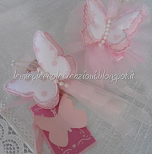 bomboniera farfalla tessuto