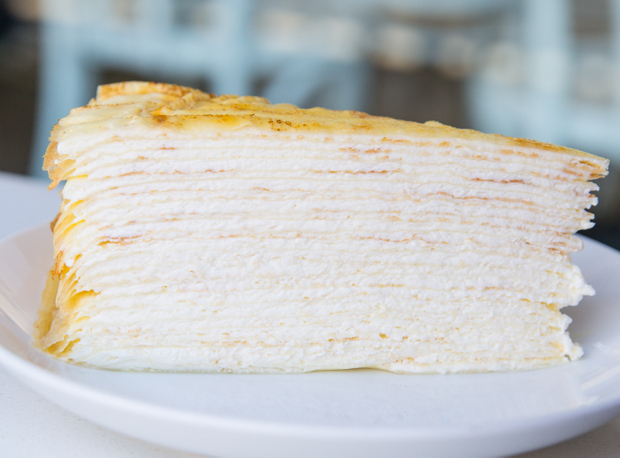 photo of a slice of Lady M Mille Crêpes