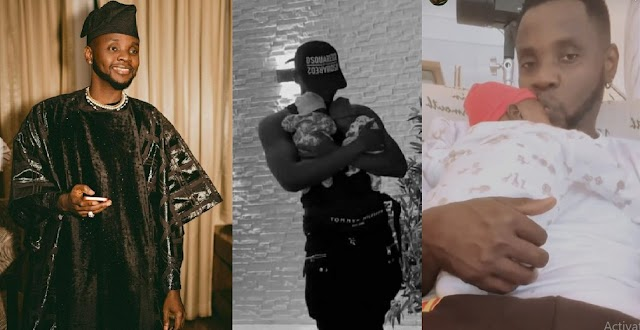 Singer Kizz Daniel Shares Footage Of Him On Daddy's Duty with his Twins [Video]
