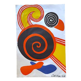 Alexander Calder 'Spirals' Lithograph