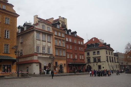 The square in front of the Royal Castle of Warsaw Poland