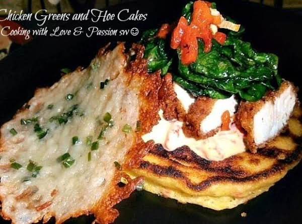 Chicken Greens And Hoe Cakes Recipe