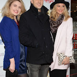 WWW.ENTSIMAGES.COM -     Lizzy Connolly, Dominic Tighe  and Katherine Kingsley  at    THE LAUNCH PARTY FOR THE 15TH ANNUAL WHATSONSTAGE AWARDS At Cafe de Paris London December 5th 2014                                               Photo Mobis Photos/OIC 0203 174 1069