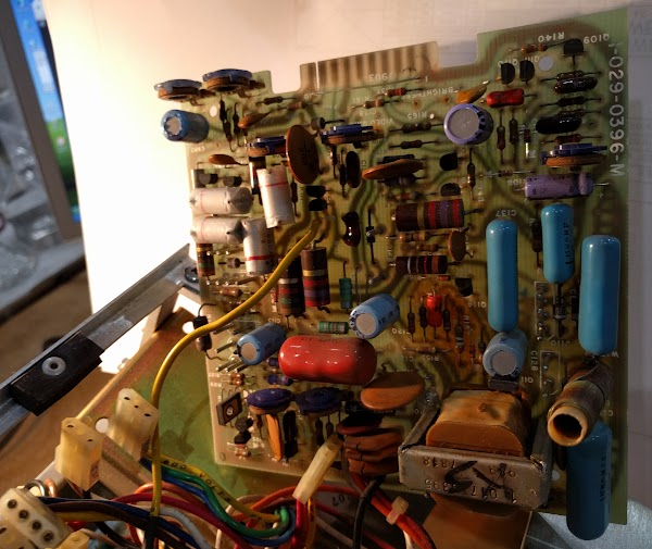 The circuit board for the Xerox Alto's monitor.