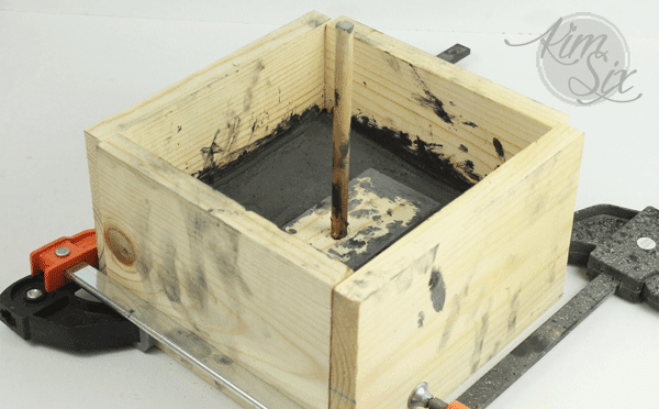 Wooden box for concrete