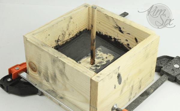 Wooden box for concrete