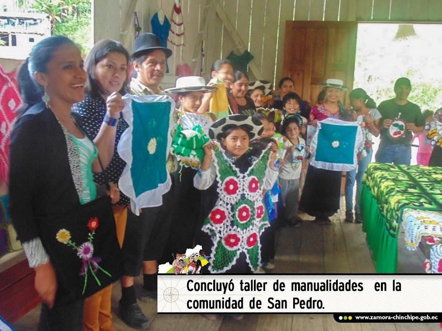 CONCLUYÓ TALLER DE MANUALIDADES  EN LA COMUNIDAD DE SAN PEDRO