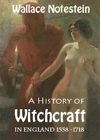 Cover of Wallace Notestein's Book A History of Witchcraft in England from 1558 to1718