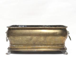 Vintage Brass Claw Footed Jardiniere