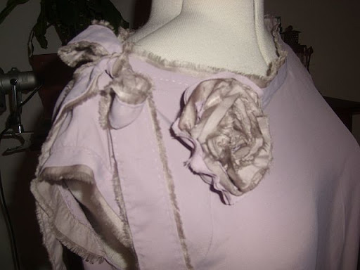 Detail of deconstruction and fabric flower