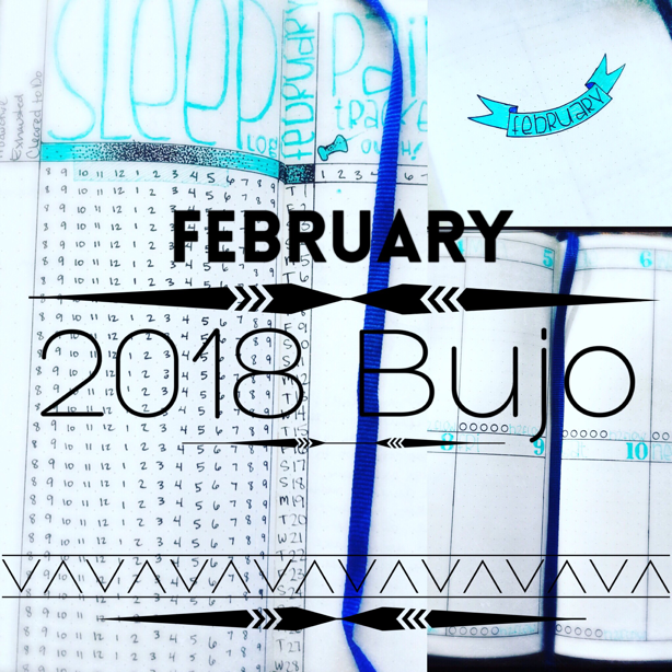 February 2018 Bullet Journal Layout