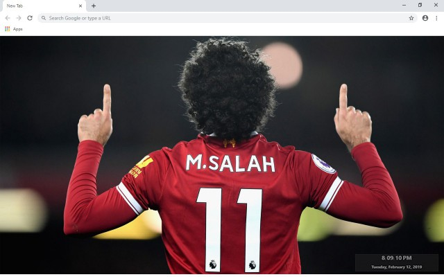 Mohamed Salah New Tab & Wallpapers Collection
