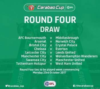 Fourth Round fixtures of the EFL or Carabao Cup: Chelsea Host Everton as Man Utd Take on Swansea Next,