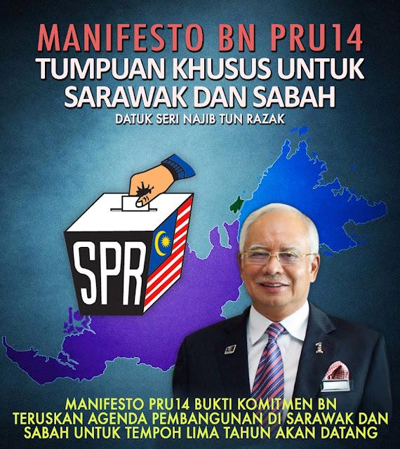 Hadiah misteri menanti Sarawak selepas BN menang PRU14 — Najib