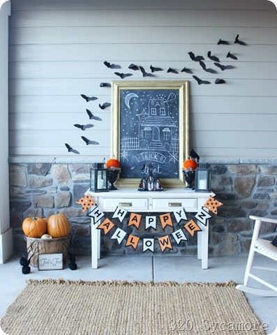 halloween decor entry