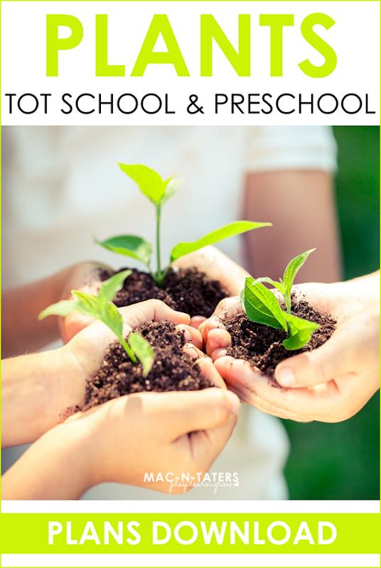 Plant Theme Tot School & Preschool Plans